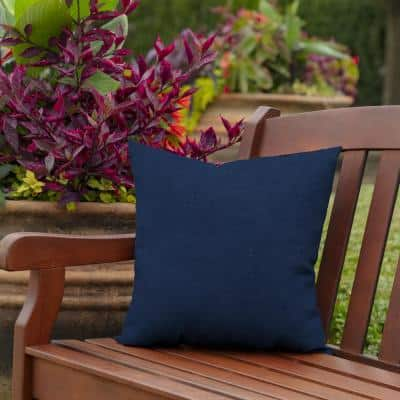 16 x 16 Sapphire Leala Texture Square Outdoor Throw Pillow (2-Pack)