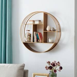 Brooklyn Gold Circular Shelf