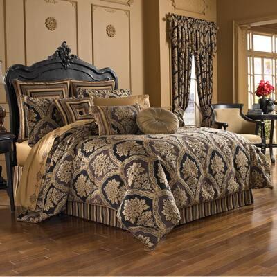 Reilly 4-Piece Black Queen Comforter Set
