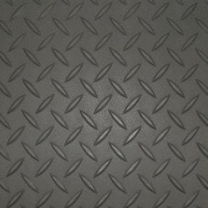 7.5 ft. x 14 ft. Charcoal Textured PVC Small Car Mat