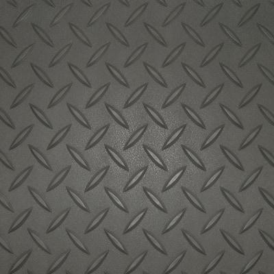 7.5 ft. x 17 ft. Charcoal Textured PVC Standard Car Mat