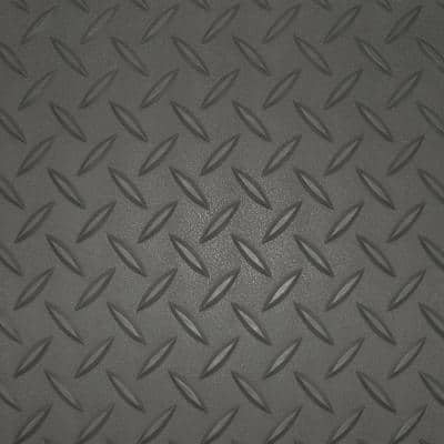 5 ft. x 40 ft. Charcoal Textured PVC Rollout Flooring