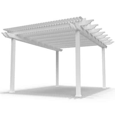 Modern Pergola-Kit Traditional 12 Ft. x 16 Ft. Freestanding Pergola with 5 In. Square Posts