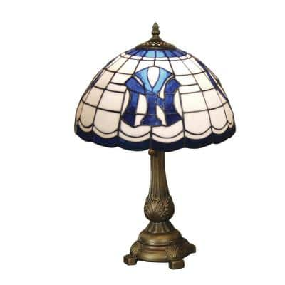 MLB -19.5 in. Antique Bronze Yankees Tiffany Table Lamp