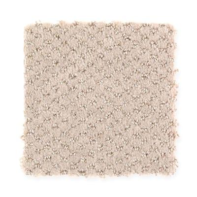 8 in. x 8 in. Pattern Carpet Sample - Energetic -Color Sweet Sugar