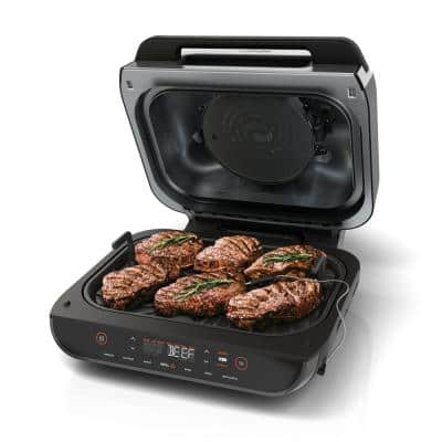 4 qt. Black Air Fryer with Indoor Grill