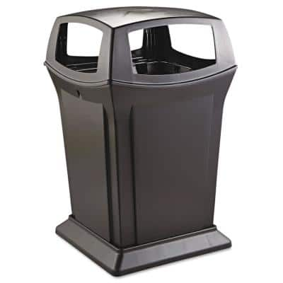 Ranger 45 Gal. Black Structural Foam Square Fire-Safe Trash Can