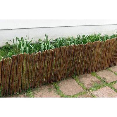 168 in. L x 12 in. H Brown Willow Rolled Border Fence/Edging