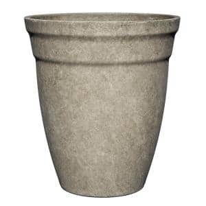 12 in. Cloud Gray Allaire Resin Planter