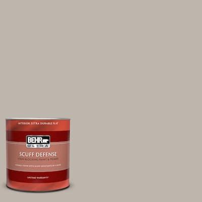 1 qt. #PPU18-12 Graceful Gray Extra Durable Flat Interior Paint & Primer