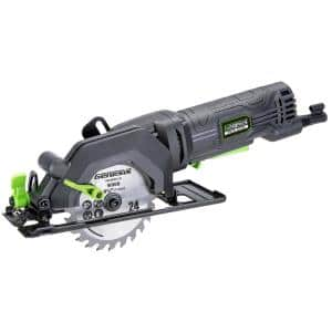 4.0 Amp 4-1/2 in. Compact Circular Saw with 24T Blade, Rip Guide, Vacuum Adapter and Blade Wrench