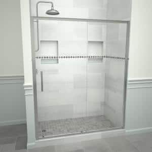 Tile Redi Swing 5100 72 In W X 72 In H Framed Pivot Shower Door In Matte Black With Handle And Clear Glass 51rcmfp07272 The Home Depot
