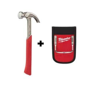 20 oz. Curved Claw Smooth Face Hammer with Hammer Loop