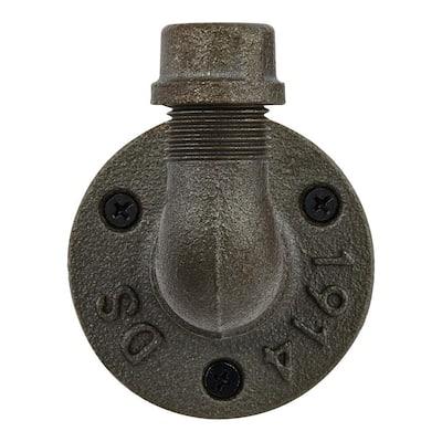 Industrial Satin Nickel Curved Pipe Wall Hook (3-Pack)