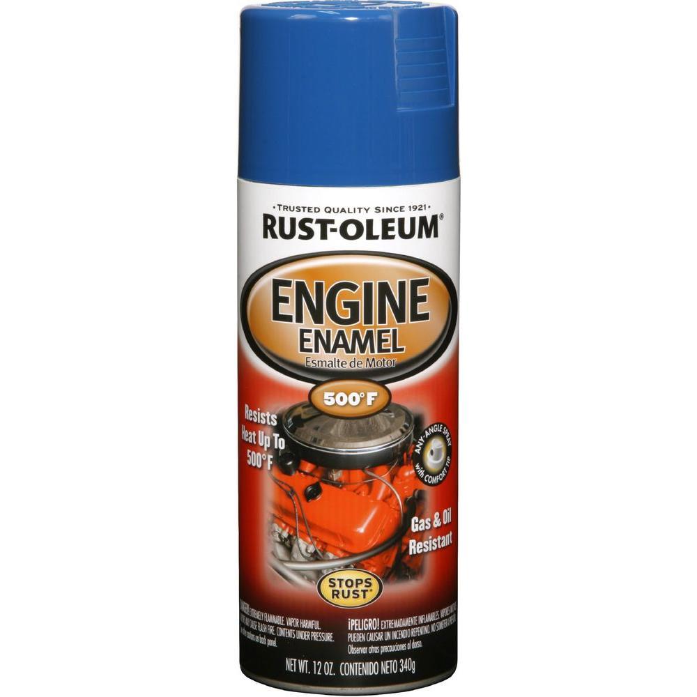 12 oz. Semi-Gloss Ford Blue Engine Enamel Spray Paint (6-Pack)