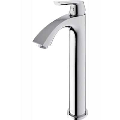 Linus Single Hole Single-Handle Vessel Bathroom Faucet in Chrome