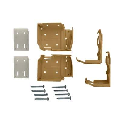 2.5 in. Cordless Faux Wood Side Mounting Bracket Set in Chestnut