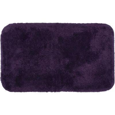 Royal Purple 24 in. x 40 in. Nylon Machine Washable Bath Mat