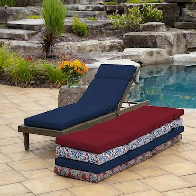 21 x 72 Sapphire Leala Texture Outdoor Chaise Lounge Cushion