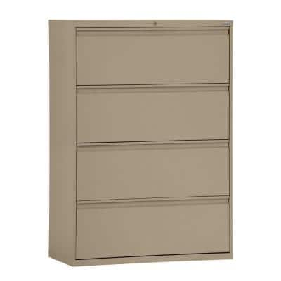 800 Series 42 in. W 4-Drawer Full Pull Lateral File Cabinet in Tropic Sand