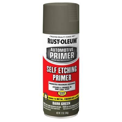 12 oz. Self Etching Dark Green Primer Spray