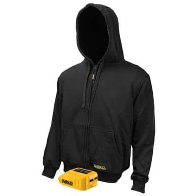 Men's XXLarge 20V XR Lithium Ion Black bare Hoodie with 1 USB Power Adapter