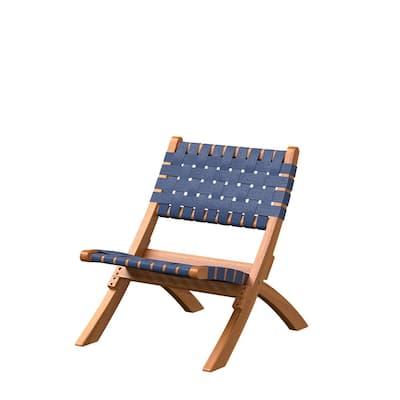 Sava Navy Blue Wood Lawn Chair