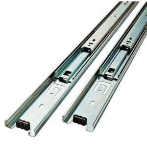 14 in. Full Extension Side Mount Ball Bearing Drawer Slide Set 1-Pair (2 Pieces)