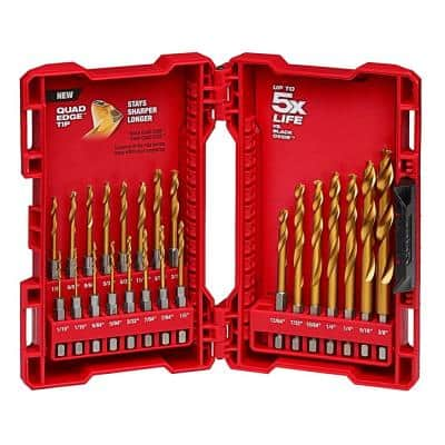 SHOCKWAVE IMPACT DUTY Titanium Drill Bit Set (23-Piece)