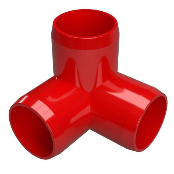 Formufit 1 1 4 In Furniture Grade Pvc 3 Way Elbow In Red 4 Pack F1143we Rd 4 The Home Depot