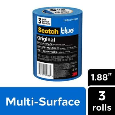 1.88 in. x 60 yd. (48 mm x 54.8 m) Original Multi-Surface Painter's Tape (3 Rolls/Pack)