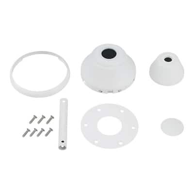 "Maverick Ceiling Fan Matte White Custom Finish Canopy and Trim Hardware Kit for Maverick 88"" or 99"" Sizes"