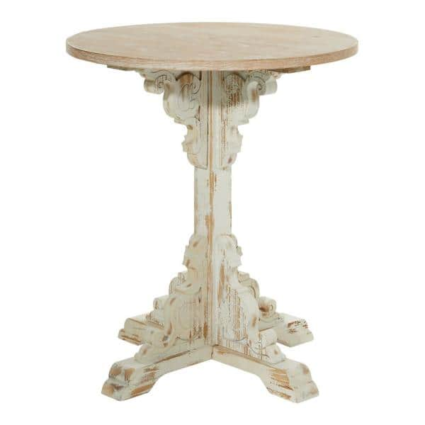 Small Round Wood End Side Table, Small Round Antique Side Table