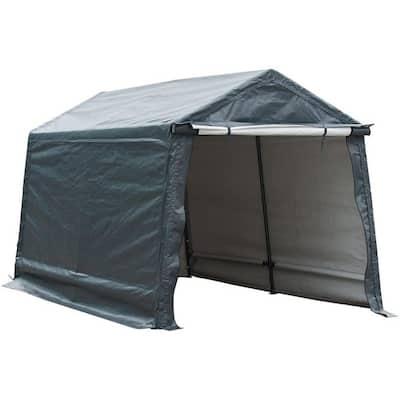 8 ft. x 14 ft. x 7.6 ft. Grey Roof Steel Carport