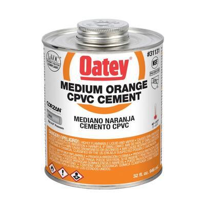 32 oz. Medium Orange CPVC Cement