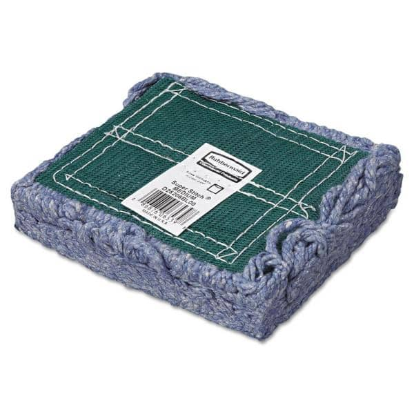 Rubbermaid Commercial Products Medium Super Stitch Blend Mop With 5 In Headband Case Of 6 Rcpd252blu The Home Depot
