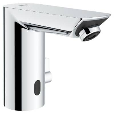 Bau Cosmopolitan E Touchless AC Powered Touchless Single Hole Bathroom Faucet Temperature Control in StarLight Chrome