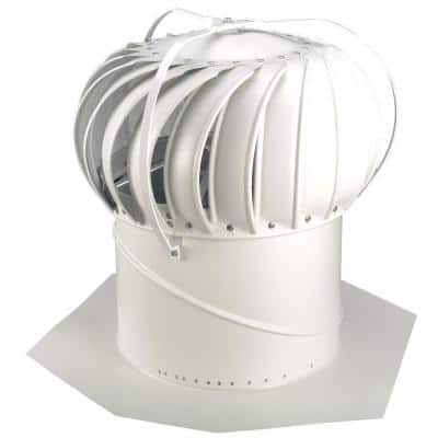 14 in. White Aluminum Externally Braced Whirlybird Wind Turbine