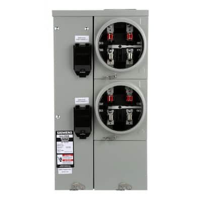 Uni-PAK 2-Gang 125 Amp Tenant Main Breaker Meter Socket