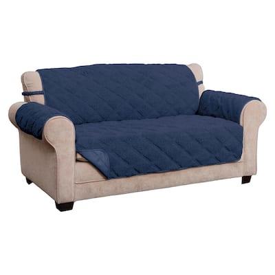 Hudson Navy Waterproof Sofa Furniture Cover