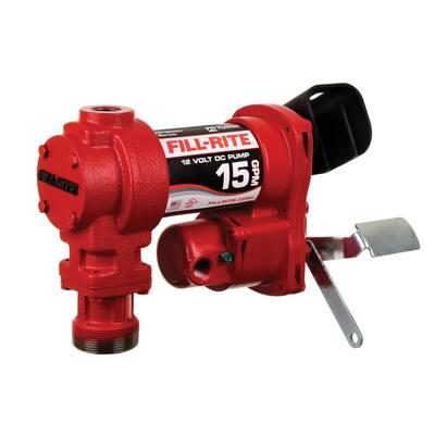 12-Volt 15 GPM 1/4 HP Fuel Transfer Pump (Pump Only)