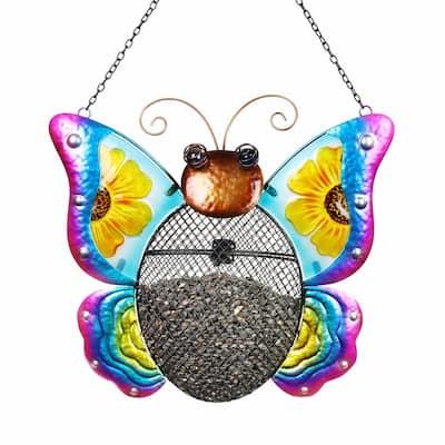 Butterfly Mesh Basket Metal Bird Feeder