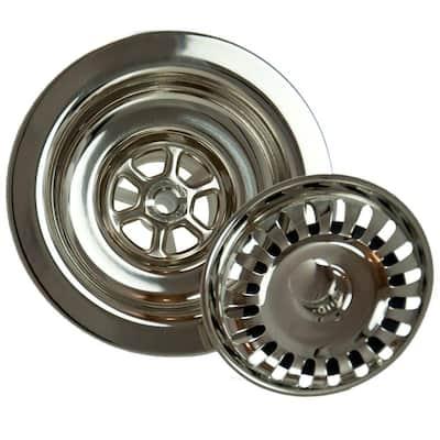 4.5 in. Kitchen Strainer in Polished Nickel