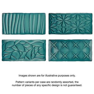 Antic Sensations Lava Verde 3 in. x 6 in. Ceramic Wall Subway Tile (4.38 sq. ft. / Case)