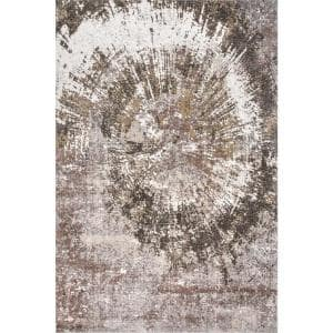 Phifer Vintage Abstract Ivory 4 ft. x 6 ft. Area Rug