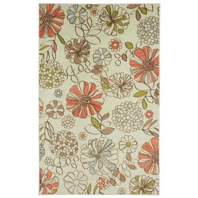 Gypsy Spirit Cream 8 ft. x 10 ft. Floral Area Rug