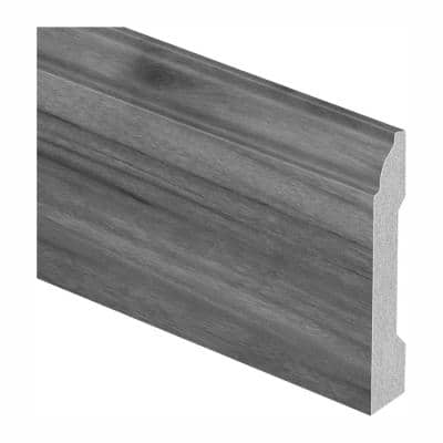 Russet Hickory 9/16 in. Thick x 3-1/4 in. Wide x 94 in. Length Laminate Base Molding