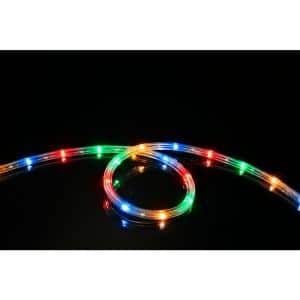 16 ft. Multi-Color All Occasion Indoor Outdoor LED Rope Light 360° Directional Shine Decoration (2-Pack, 32 ft. Total)