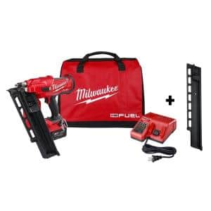 M18 FUEL 3-1/2 in. 18-Volt 21-Degree Lithium-Ion Brushless Cordless Framing Nailer Kit w/ Battery, Extended Capacity Mag