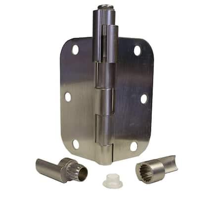 Pewter Satin Nickel Adjustable Bumper-Less Hinge Pin Door Stop Door Saver Catches